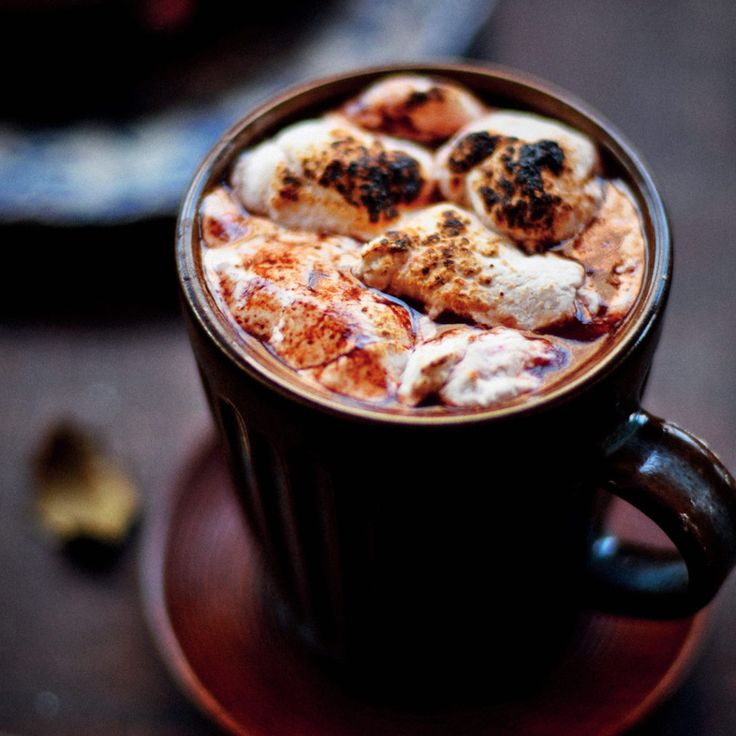 Malted hot chocolate with toasted marshmallows - MyKitchen