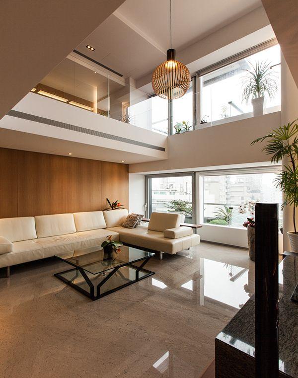 12 best casa pé direito duplo images on Pinterest Stairs, Dream - holzbalken decke interieur modern