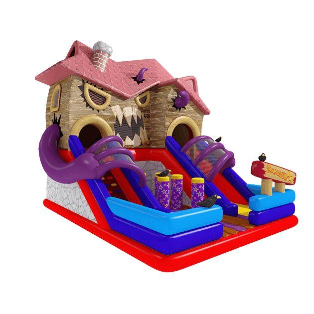 Название: Коммерческий надувной батут «Дом с привидениями» Категория: Надувные аттракционы Источник: http://batutmaster.ru/product/kommercheskijj-naduvnojj-batut-dom-s-privideniyami Описание:  Необычный батут с воронами, страшной крышей и огромными лапами на подъемах — увлекательное путеше�
