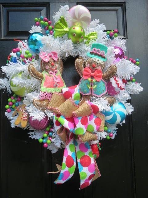 Gingerbread Wreath Raz Gingerbread Boy Girl Christmas Door