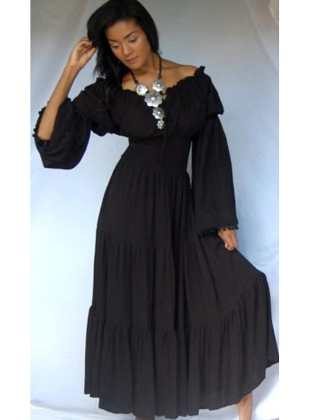PRE-ORDER - @V2222 BL/DRESS-PEASANT-RUFFLED