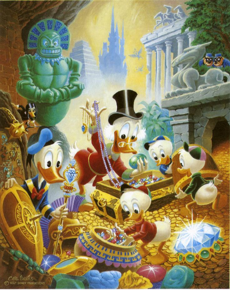 Donald Duck and Uncle Scrooge - Wanderers in Wonderlands by Carl Barks