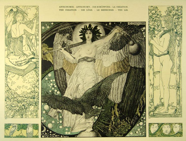Astronomy - The Creation - The Lie' by Carl Otto Czeschka