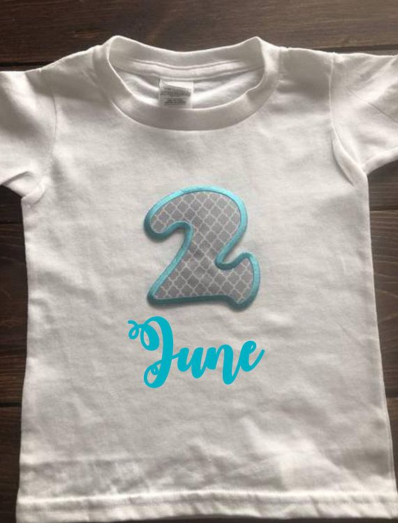 Applique 2 Second Birthday Shirt Personalize It