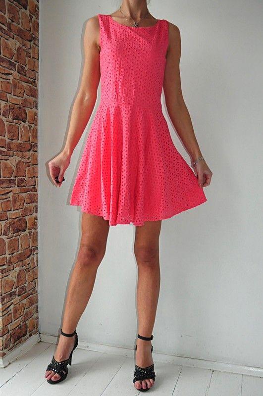 32dc254103 Hooch sukienka różowa ażurki r. 34 - Vinted