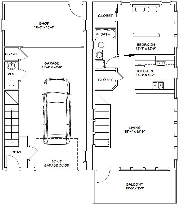 20x40 house 20x40h7h 1 053 sq ft excellent floor for 20x40 house plan