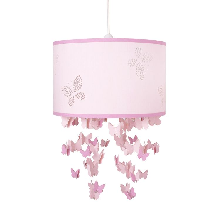 Girls Bella Butterfly Pink Mobile Ceiling Shade