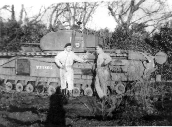 'Bob' was the tank that my Grandpa Jim Ganshirt and my Great-uncle Albert Johnson were in. They were part of the landing party on the beaches of Dieppe. After making it into town, and then saving the crew from the tank 'Bert', they made it back to the beach. They then became POWs of the Germans.