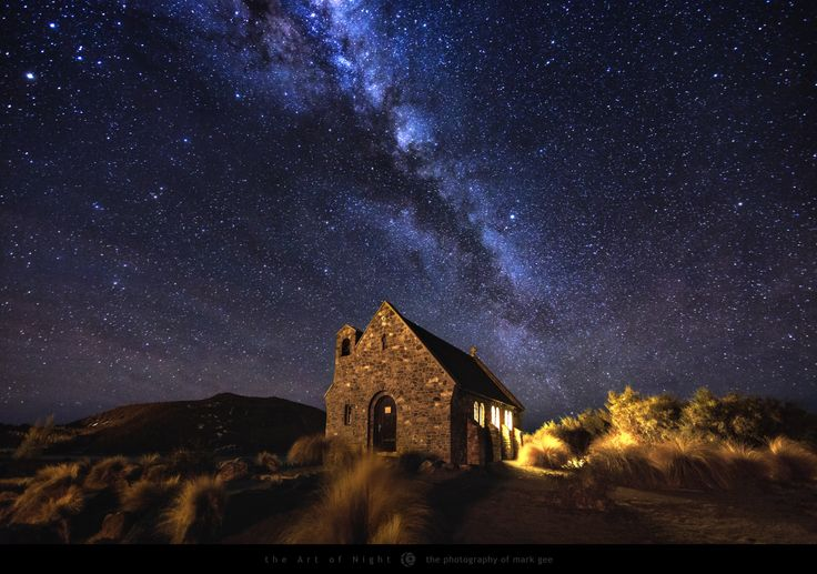 The Church of the Good Shepherd on the shores of Lake Tekapo in New Zealand, is…