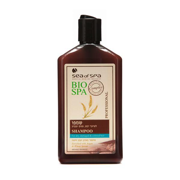 Szampon do włosów suchych, zniszczonych i farbowanych z dodatkiem olejku arganowego. Ten szampon jest przeznaczony do włosów suchych, zniszczonych i farbowanych. Wyjątkowa formuła wzbogacona o naturalne i aktywne minerały z Morza Martwego , olejek arganowy i ekstrakty z kiełk pszenicy powoduje odżywianie skóry głowy i nawilża włosy w zasadnicze elementy. Dzięki tej formule włosy wyglądają zdrowiej, bardziej miękko, elastycznie i lśniąco.