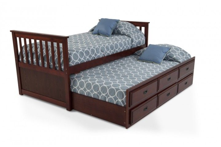 Twin Captains Bed With Trundle - Downloadable Free Plans