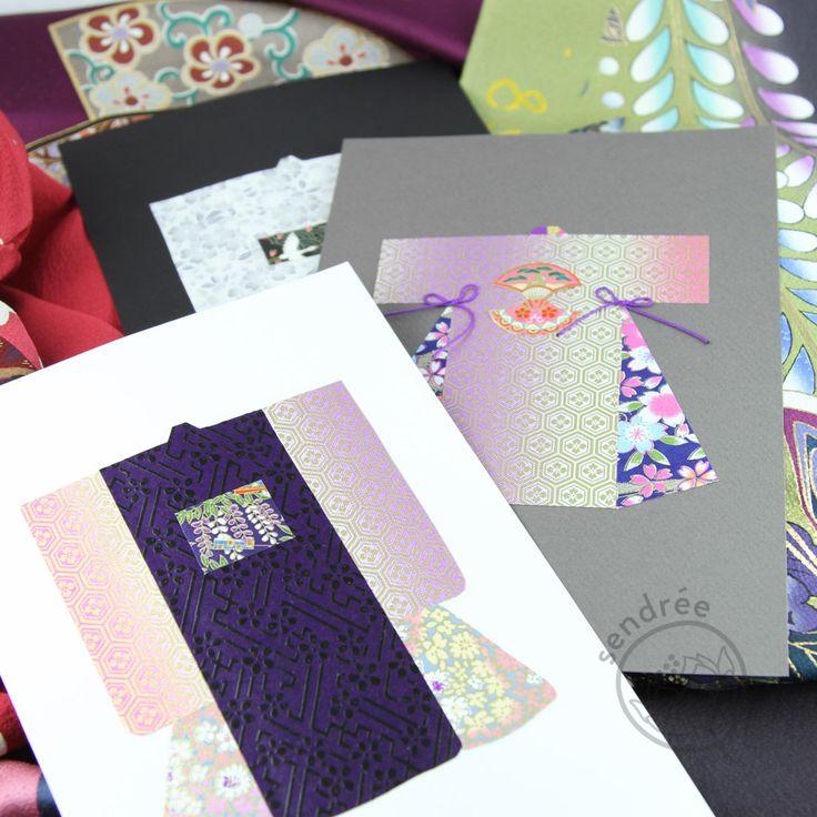 cartes kimono washi