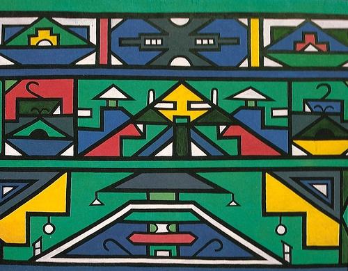 Ndebele Art [painting, tribal, ethnic, boho,aztec, geo, geometric]