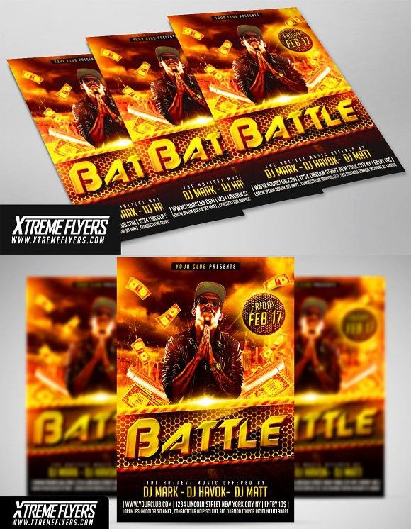 rap flyer template flyer template event flyers and template