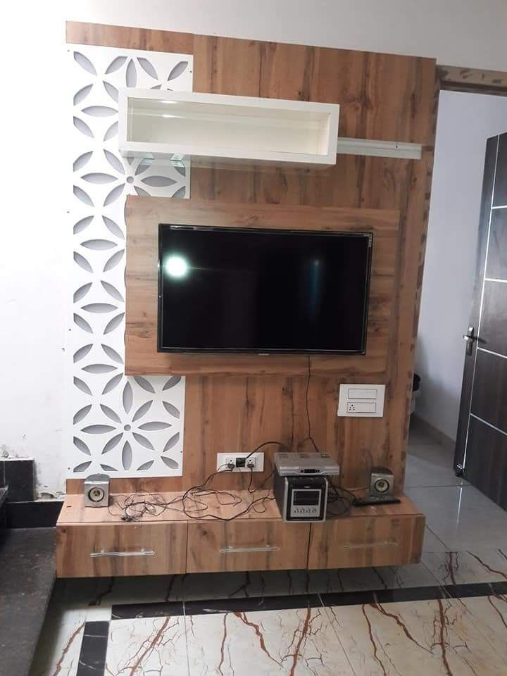 Latest Tv Unit Design: Beautiful LED Panel #KARAN JANGID