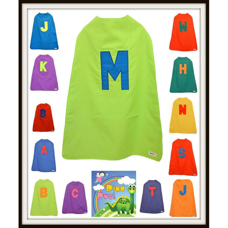 $25 Personalised Hero Cape. Applique both sides of cape. by DinoDust on Handmade Australia