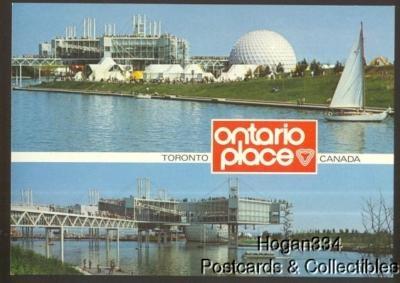 2 Scenes Ontario Place Toronto Canada Postcard