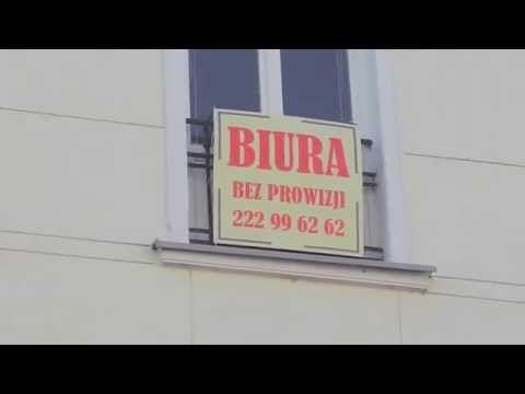 WWW.BIURA-BEZPROWIZJI.PL - biura do wynajęcia w Warszawie w jednym miejscu. - YouTube