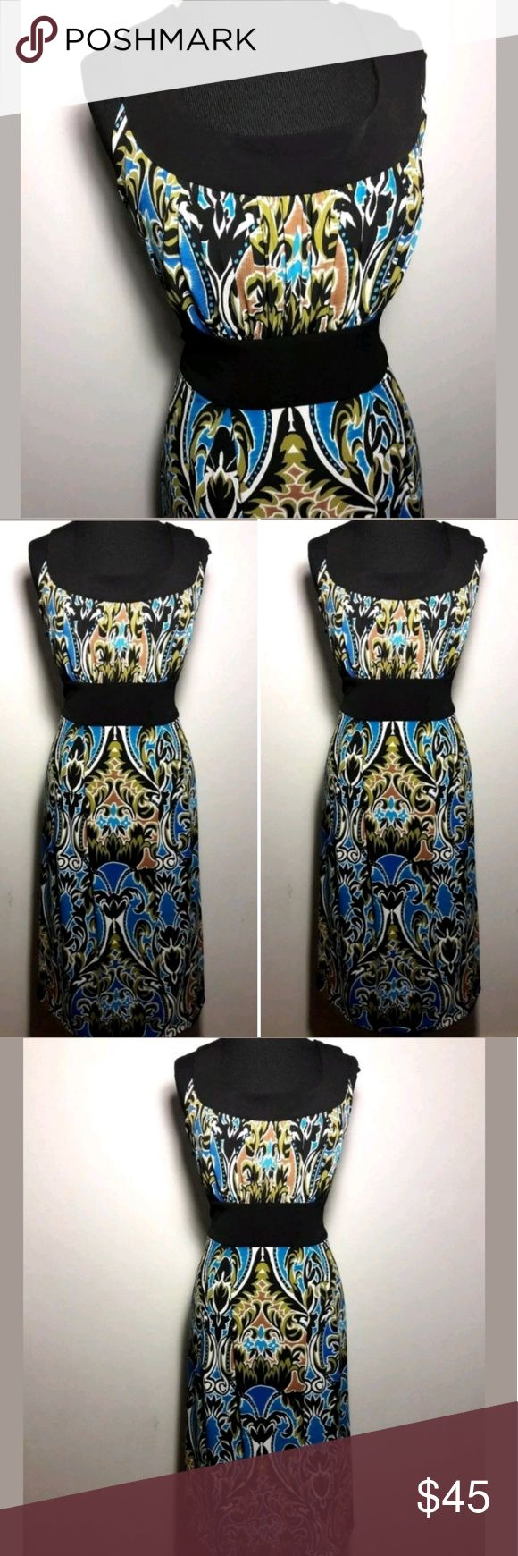 Donna Ricco Floral Dress Donna Ricco Women's Dress 16W Empire Waist Pleated Multi-Color Floral Sleeveless  Pre-owned in Excellent condition.  Please be sure it view all images before purchasing.  Thank you for Looking & Sharing Happy Poshing😄💗 Donna Ricco Dresses