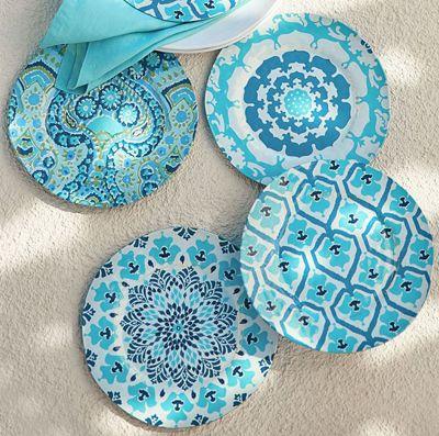 Natalie Melamine Salad Plates  sc 1 st  Pinterest & 69 best Melamine Dessert Plates images on Pinterest | Entertaining ...