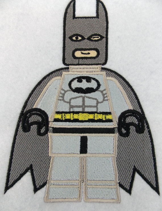 Boutique embroidered lego batman patch sew on by hmdivas