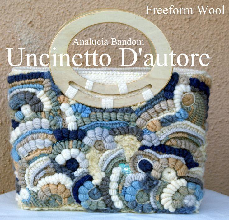 freeform bag crochet uncinetto borsa bolsa croche