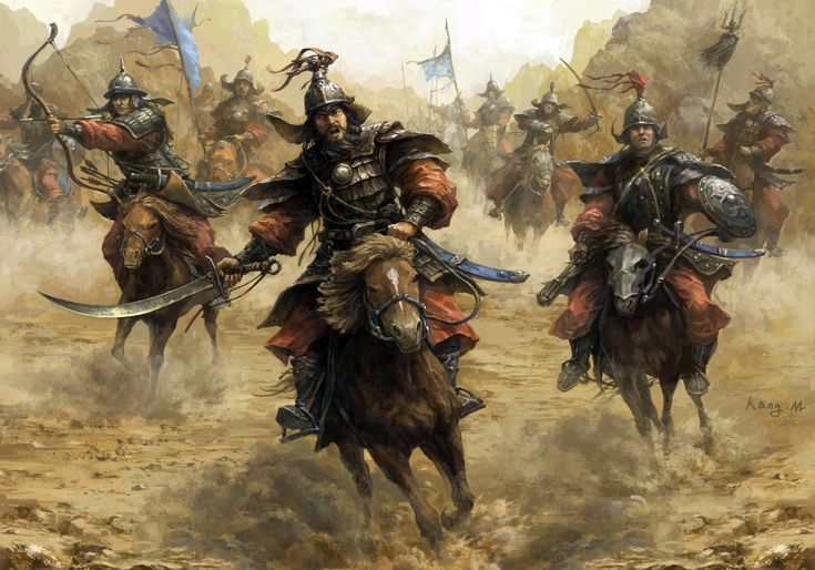 Charge of the Mongol cavalry in Northern China