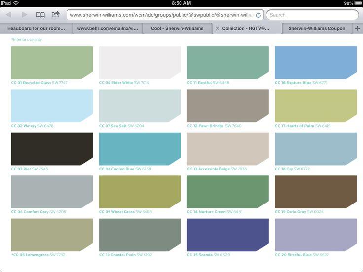 Sherwin Williams Coastal Colors House Color Palettes