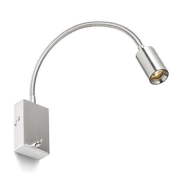 Kinkiet LAMPA ścienna VERSA R10602 Redlux OPRAWA metalowa LED do czytania regulowany peszel nikiel matowy
