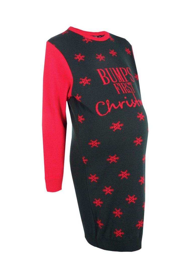 Maternity Hollie Bumps First Christmas Jumper Dress
