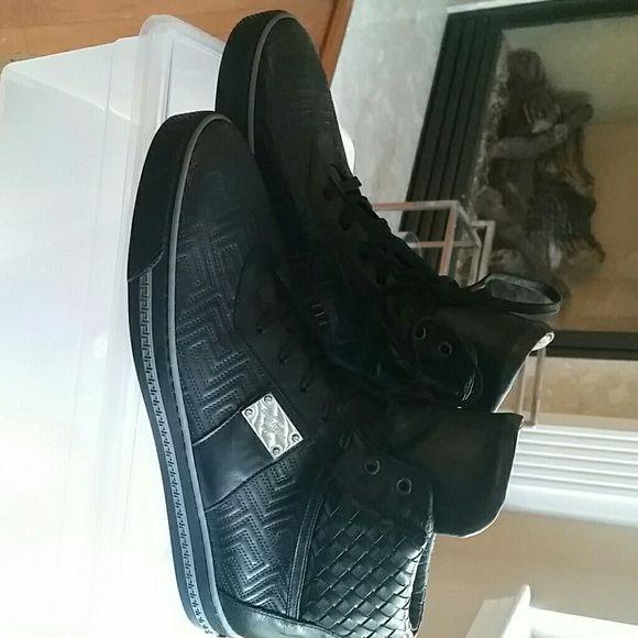 Mens Versace Sneakers Black designer Sneakers Versace Shoes Sneakers