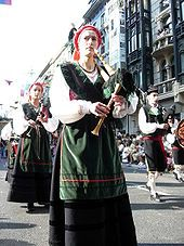 Asturian bagpipe player  They originate from the north of Spain