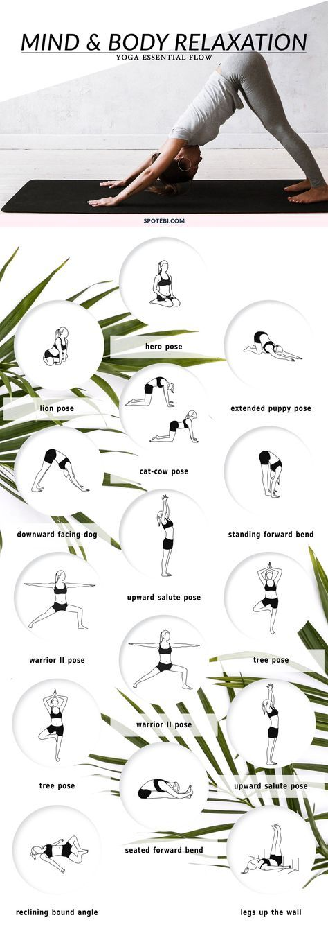 Give your brain a break and achieve inner peace with this beginner-friendly mind and body relaxation sequence. These 12 soothing yoga poses will help you redirect your mind to become conscious of our breath and allow every muscle in your body to be in a relaxed state of awareness. https://www.spotebi.com/yoga-sequences/mind-body-relaxation/