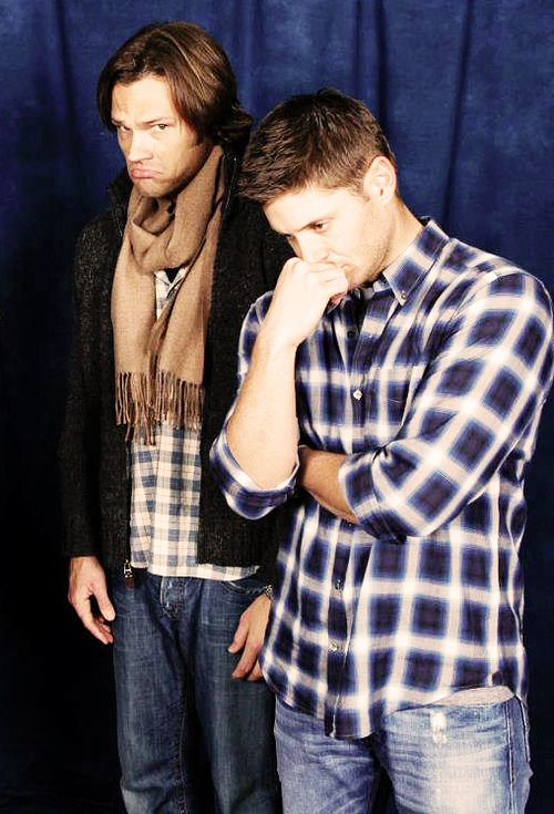 Jensen Ackles and Jared Padalecki <3 I love them this is the cutest op, ever! Adorable boys are adorable!