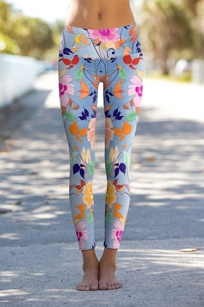 """Floral Passion"" - Printed Performance Leggings, eco friendly produced"