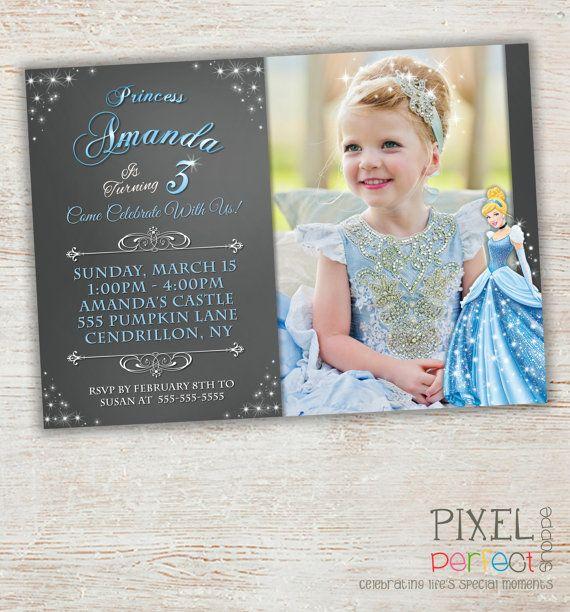Cinderella Invitation Cinderella Birthday by PixelPerfectShoppe