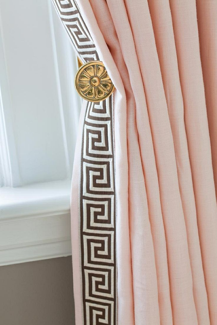 best 25 high curtains ideas on pinterest hang curtains hanging pretty pink curtains with brown greek key trim