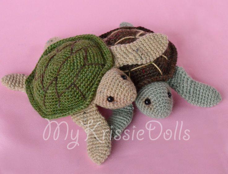 #haken, gratis patroon, Nederlands, Ravelry, Zeeschildpadjes