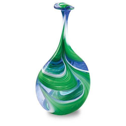 Kingfisher Lollipop Bottle Vase, part of a range of vases, bowls, lighting solutions and more. Purchase direct with international shipping: http://www.mdinaglass.com.mt/en/products/webshop/bycategory/355/price/asc/15/1/kingfisher.htm#.VayoICqqqko