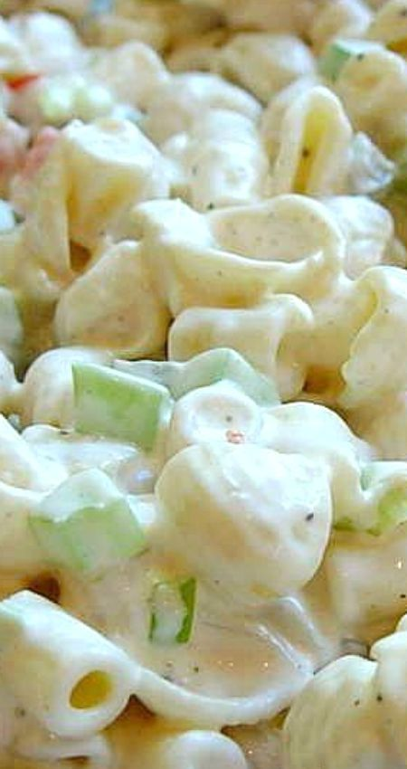 Creamy Southern Pasta Salad ~ The secret is in the Southern style dressing