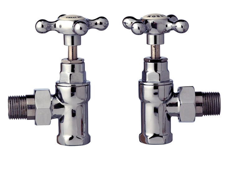 Enhance the look of a traditional Myson radiator or towel warmer with these stunning chrome Crosshead Valves.