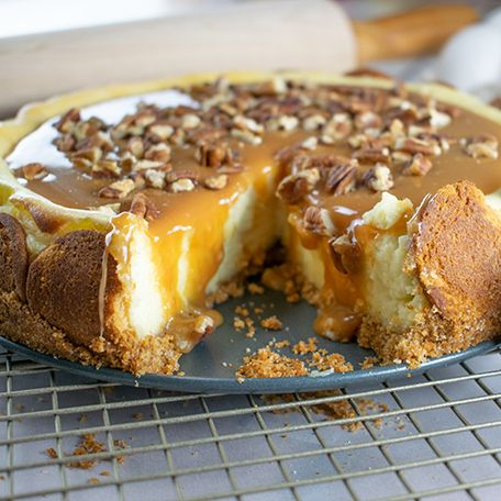Caramel Cheesecake! Perfect for the holidays! This deliciously rich cheesecake …