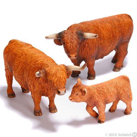Schleich farm animals and knights