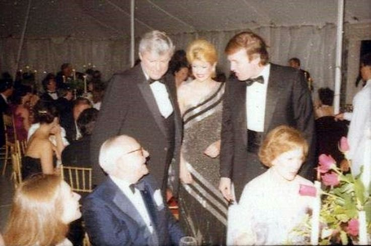 1983 Derby Party - Standing:  Governor John Y. Brown, Ivana and Donald Trump.  Seated:  Hillary Clinton, Armand Hammer and Rosalyn Carter.