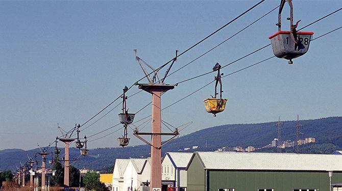 Die Seilbahn in Leimen (2005). ©HC-Archiv