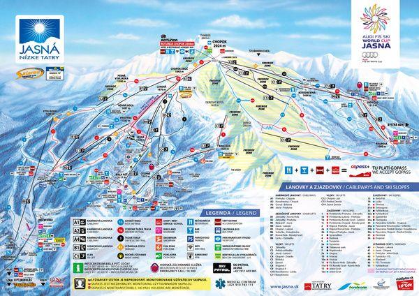 Mapy - Jasná Nízke Tatry