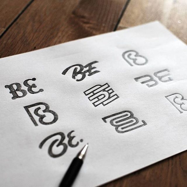 Goodtype | Strength In Letters - Beautiful logo sketches by @bbquearen.  #StrengthInLetters #Goodtype