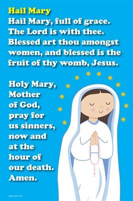Happy Saints Prayer ... | Happy Saints Hail Mary Prayer Poster