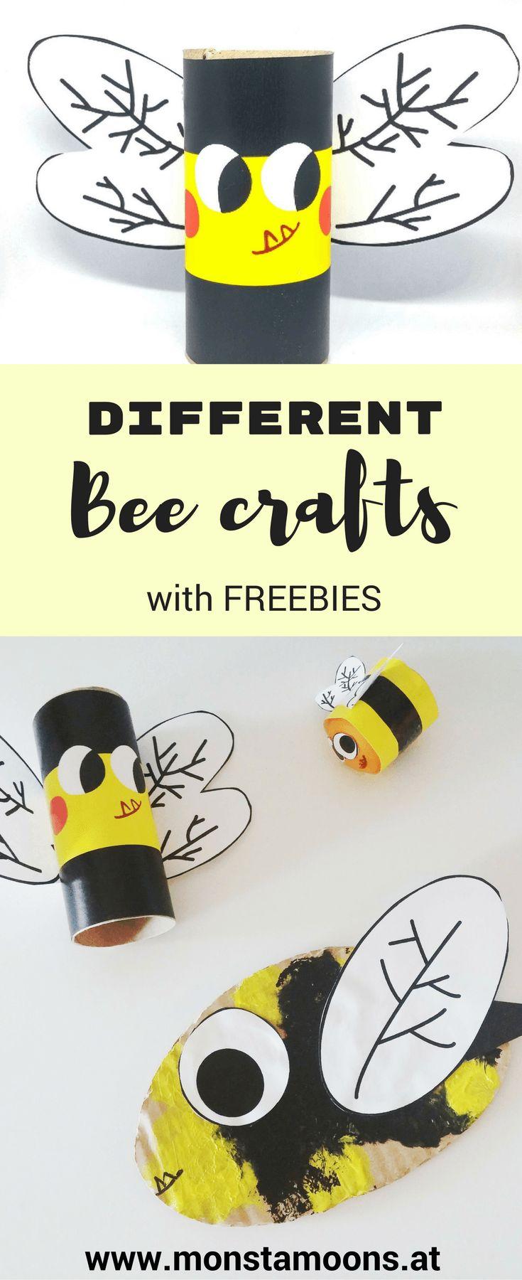 DIY Bienen basteln, bee crafts, summer crafts, tube crafts, Basteln mit Klopapierrollen, Klorollen DIY