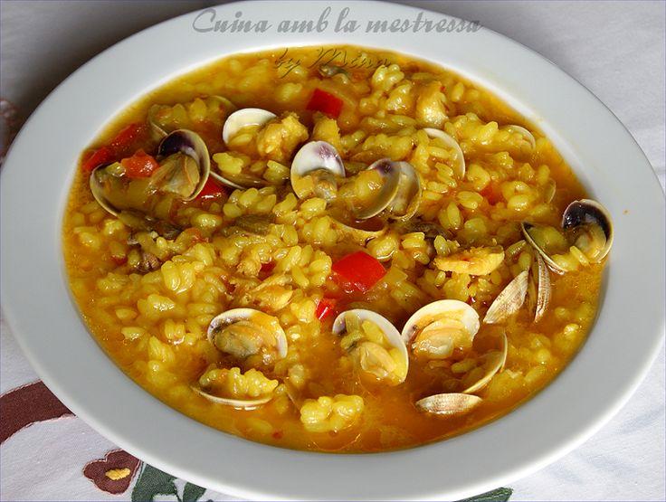 Sheila Dc •   Arroz Caldoso Con Chirlas (rosellonas) Y Bacalao...